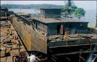 inbarge ship building